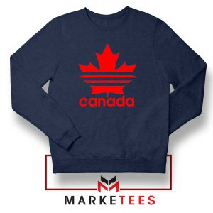 Canada Sport Maple Leaf Navy Blue Sweatshirt