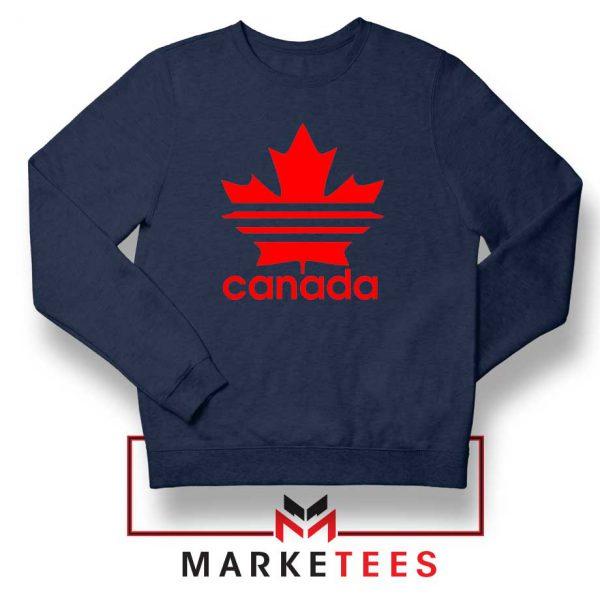 Canada Sport Maple Leaf Navy Blue Sweatshirt