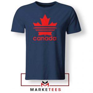 Canada Sport Maple Leaf Navy Blue Tshirt