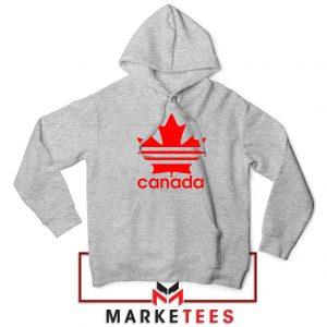 Canada Sport Maple Leaf Sport Grey Hoodie