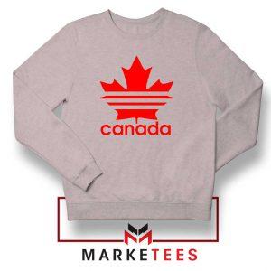 Canada Sport Maple Leaf Sport Grey Sweatshirt