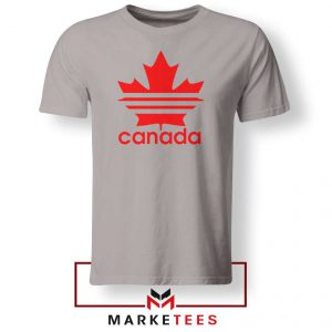 Canada Sport Maple Leaf Sport Grey Tshirt