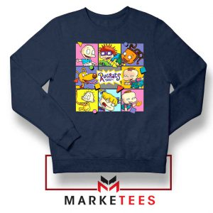 Cartoon Rugrats Boxes Navy Blue Sweatshirt