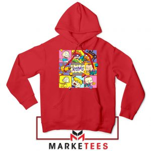 Cartoon Rugrats Boxes Red Hoodie