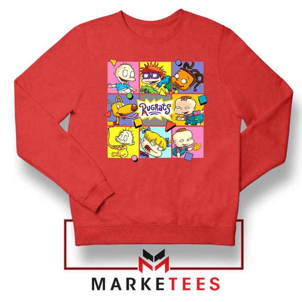 Cartoon Rugrats Boxes Red Sweatshirt