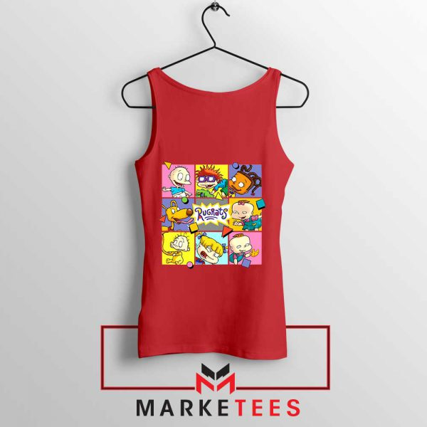 Cartoon Rugrats Boxes Red Tank Top