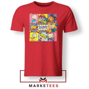 Cartoon Rugrats Boxes Red Tshirt