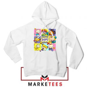Cartoon Rugrats Boxes White Hoodie