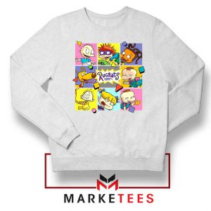 Cartoon Rugrats Boxes White Sweatshirt
