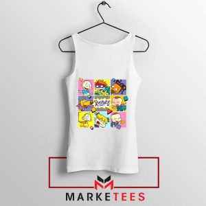 Cartoon Rugrats Boxes White Tank Top