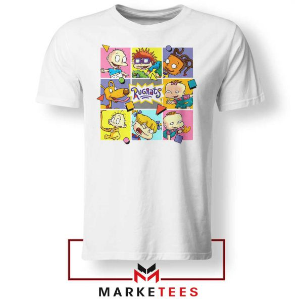 Cartoon Rugrats Boxes White Tshirt