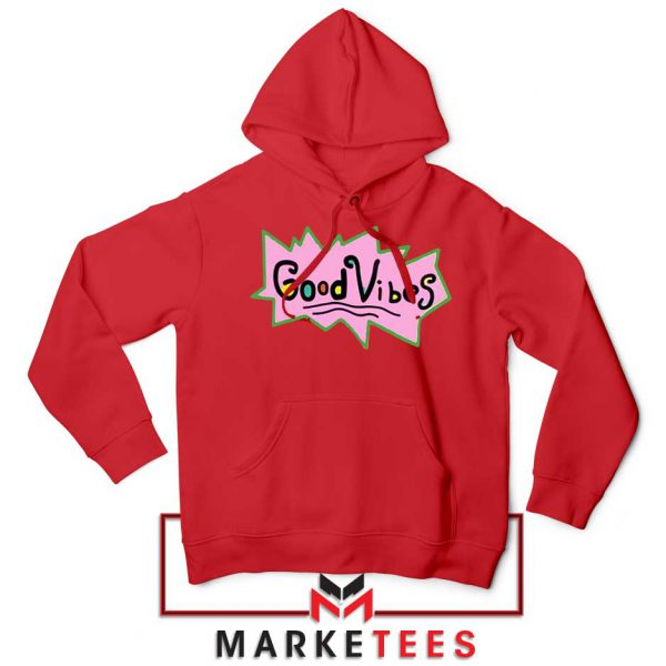 Good Vibes Rugrats Logo Red Hoodie