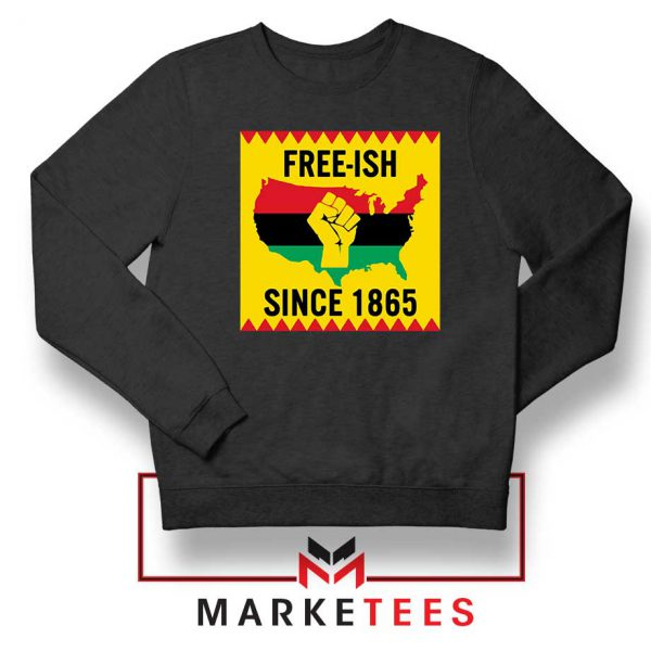 Juneteenth Day Flag Black Sweatshirt