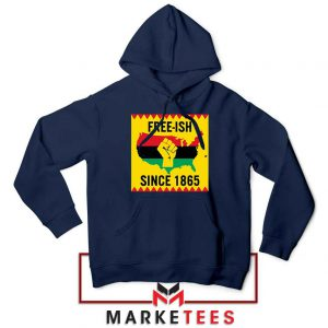 Juneteenth Day Flag Navy Blue Hoodie