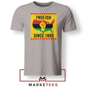 Juneteenth Day Flag Sport Grey Tshirt