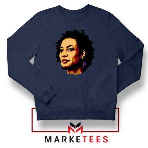 Marielle Franco Presente Navy Blue Sweatshirt