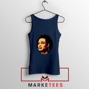Marielle Franco Presente Navy Blue Tank Top