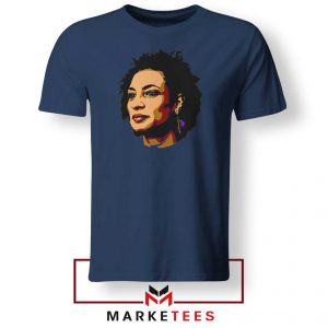 Marielle Franco Presente Navy Blue Tshirt