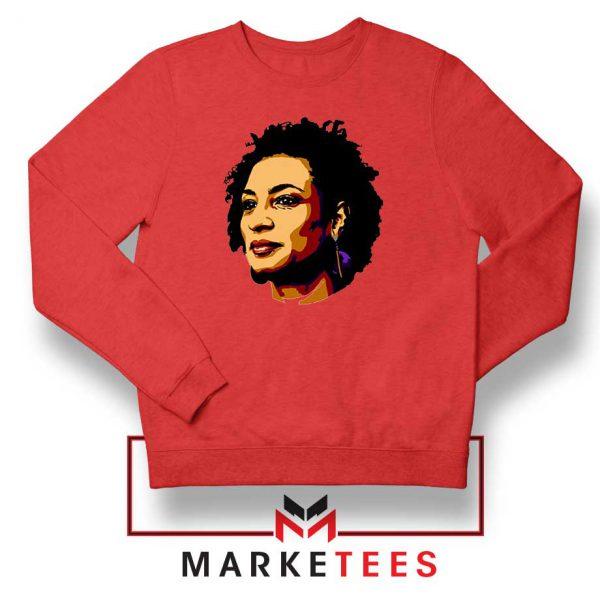 Marielle Franco Presente Red Sweatshirt