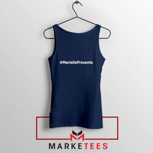 Marielle Presente Hashtag Navy Blue Tank Top