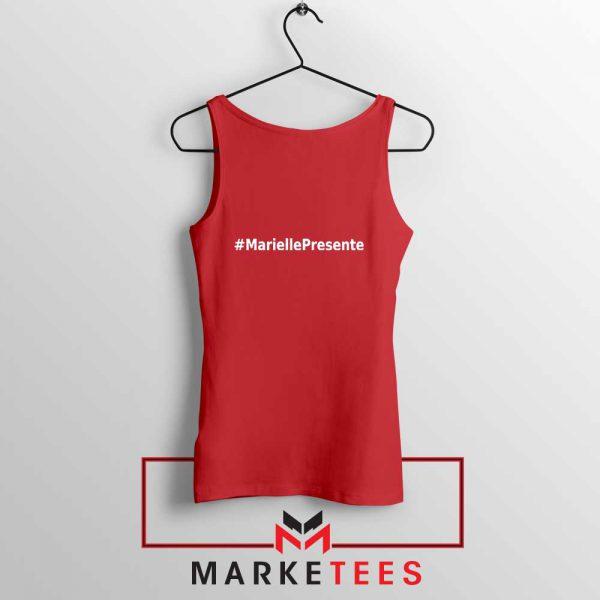 Marielle Presente Hashtag Red Tank Top
