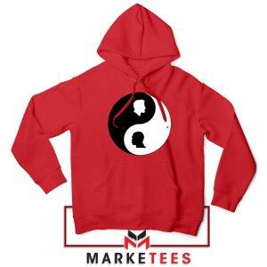 No To Racism Yin Yan Symbol Red Hoodie