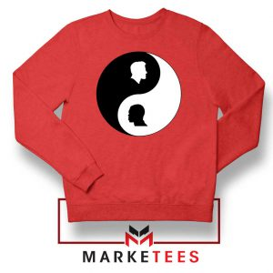No To Racism Yin Yan Symbol Red Sweatshirt