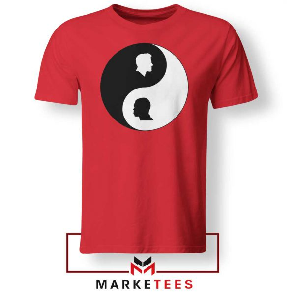 No To Racism Yin Yan Symbol Red Tshirt