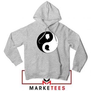 No To Racism Yin Yan Symbol Sport Grey Hoodie