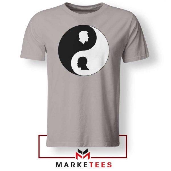 No To Racism Yin Yan Symbol Sport Grey Tshirt