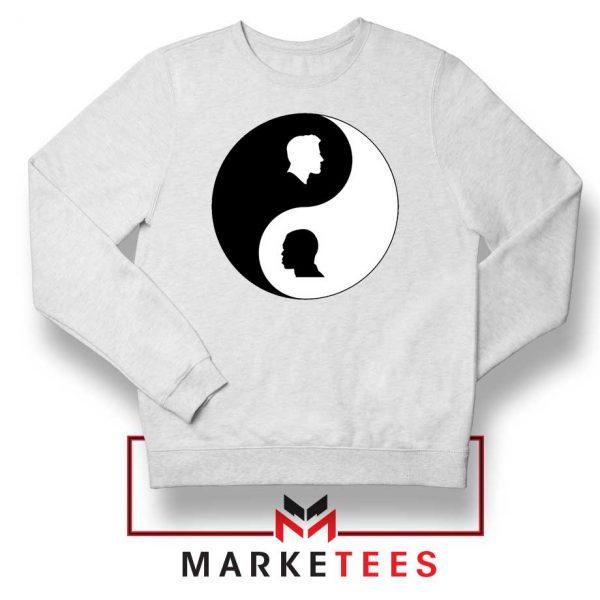 No To Racism Yin Yan Symbol Sweatshirt