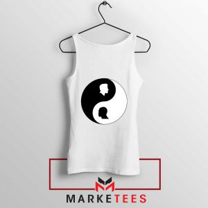 No To Racism Yin Yan Symbol Tank Top