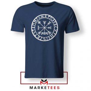 Norse Vegvisir Navy Blue Tshirt