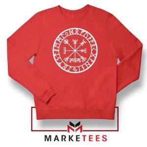 Norse Vegvisir Red Sweatshirt