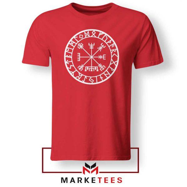 Norse Vegvisir Red Tshirt