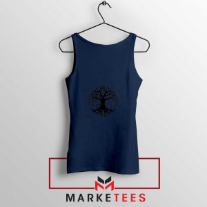 Norse Yggdrasill Navy Blue Tank Top