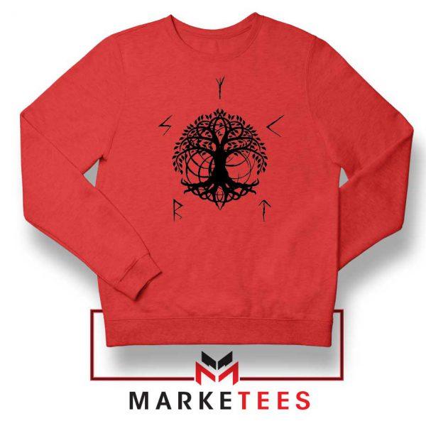 Norse Yggdrasill Red Sweatshirt