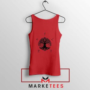 Norse Yggdrasill Red Tank Top