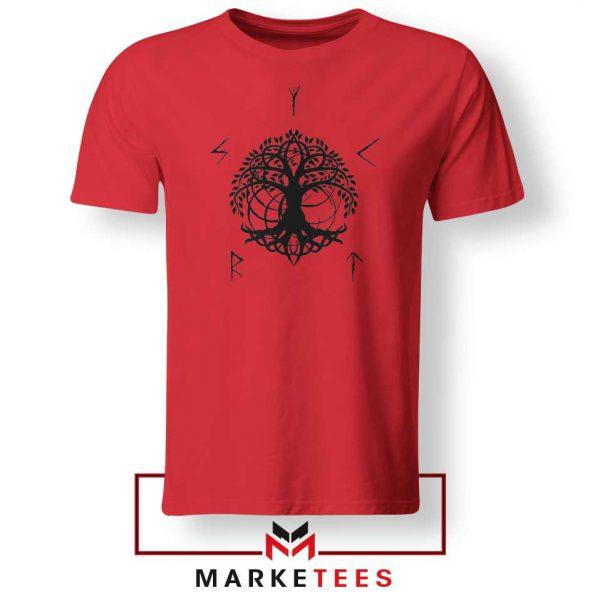 Norse Yggdrasill Red Tshirt