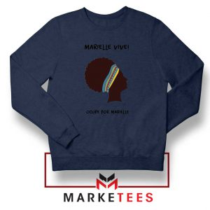 Ocupe For Marielle Franco Navy Blue Sweatshirt