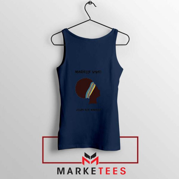 Ocupe For Marielle Franco Navy Blue Tank Top