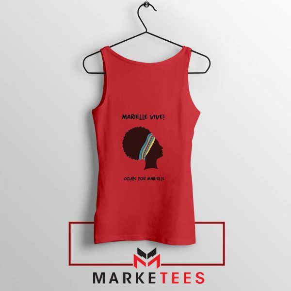 Ocupe For Marielle Franco Red Tank Top