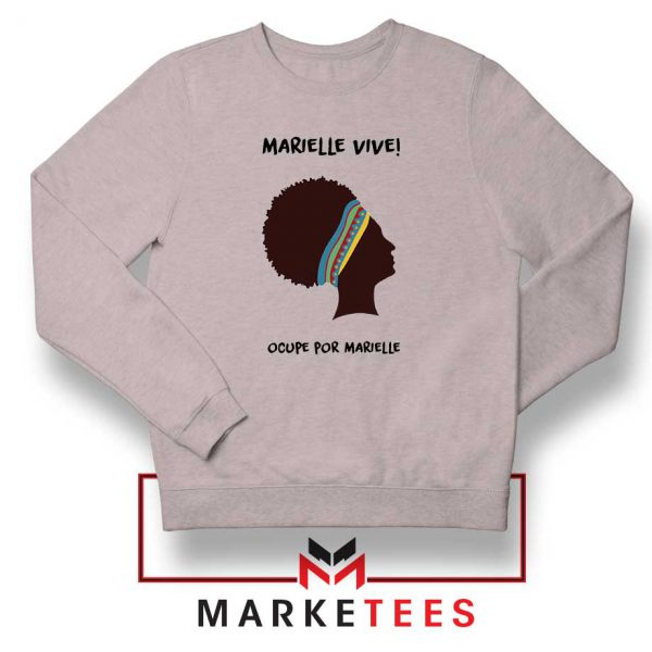 Ocupe For Marielle Franco Sport Grey Sweatshirt