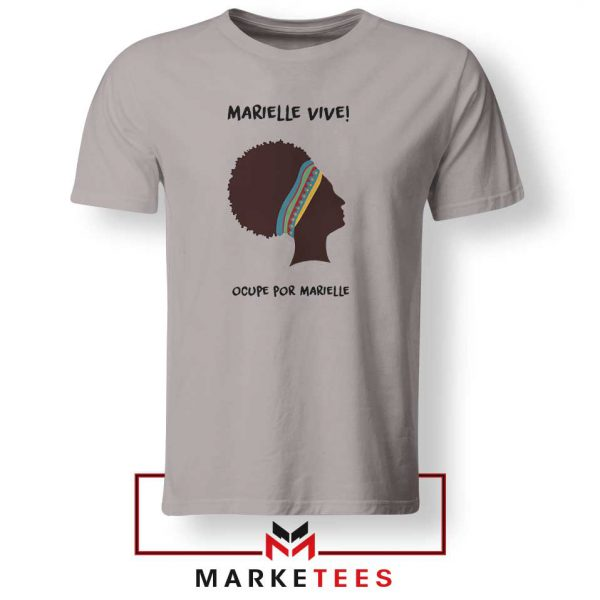 Ocupe For Marielle Franco Sport Grey Tshirt
