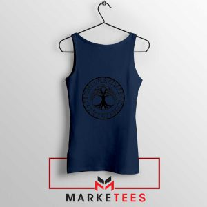 Old Norse Yggdrasill Navy Blue Tank Top
