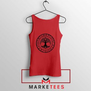 Old Norse Yggdrasill Red Tank Top