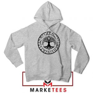 Old Norse Yggdrasill Sport Grey Hoodie