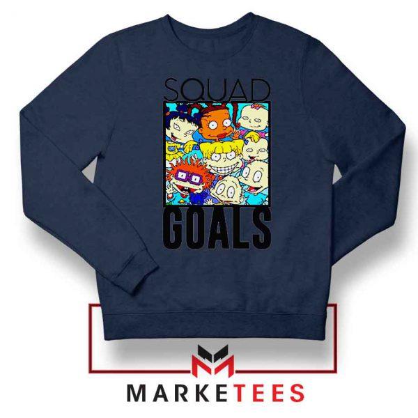 Rugrats Squad Goals Navy Blue Sweatshirt