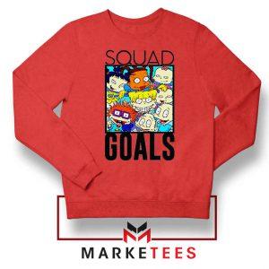 Rugrats Squad Goals Red Sweatshirt
