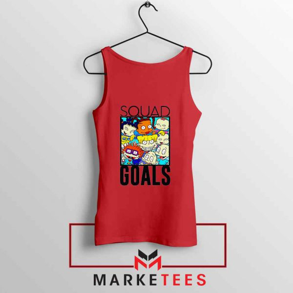 Rugrats Squad Goals Red Tank Top